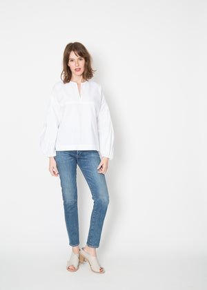 Odeeh V- Neck Peasant Blouse