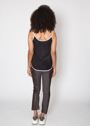 Elaine Kim Nita Cropped Flare Leather Pant