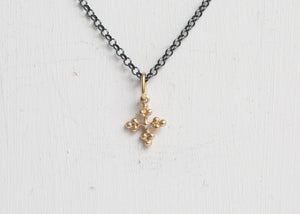 Erica Molinari Charm Tiny Balled Cross