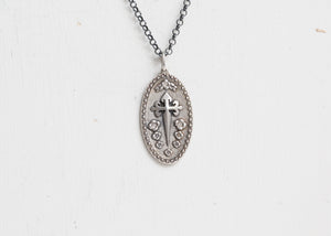 Erica Molinari 2 Tone Charm St. James Cross + Flowers