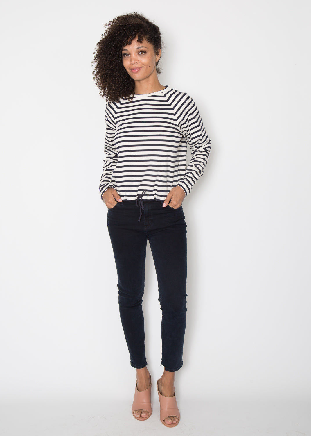 Harvey Faircloth Raglan Long Sleeve Top