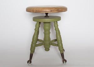 Vintage Clawed Piano Stool