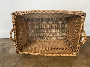 Vintage Rectangle Wicker Basket