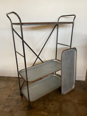 Metal Bakery Cart