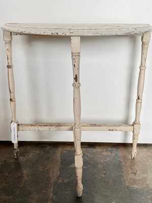 Vintage Half Circle End Table