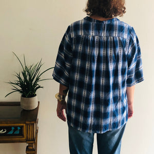 Good Company Popover Shirt, Blue Flannel