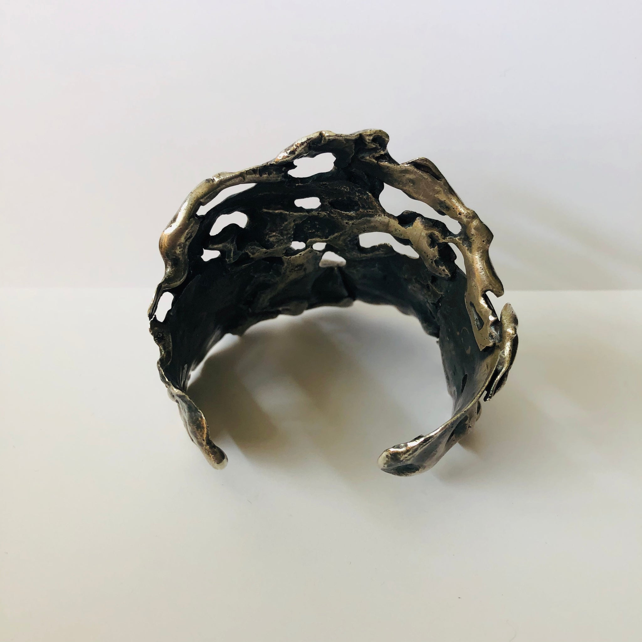 TTT One of a Kind Melted Silver Cuff