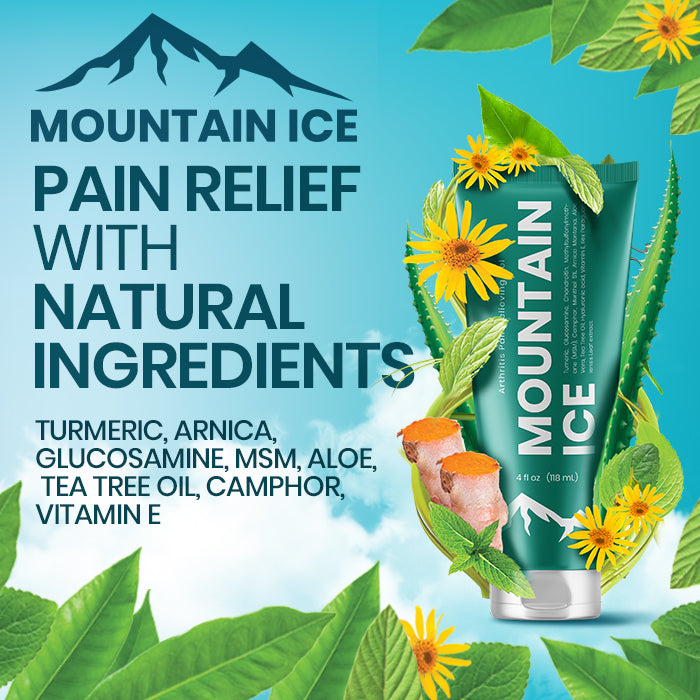 Mountain Ice Pain gel used to treat symptoms of Peripheral Neuropathy in Feet and hands