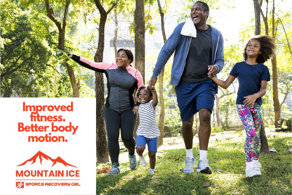 Improved Family Exercise with Mountain Ice Sports Recovery Gel