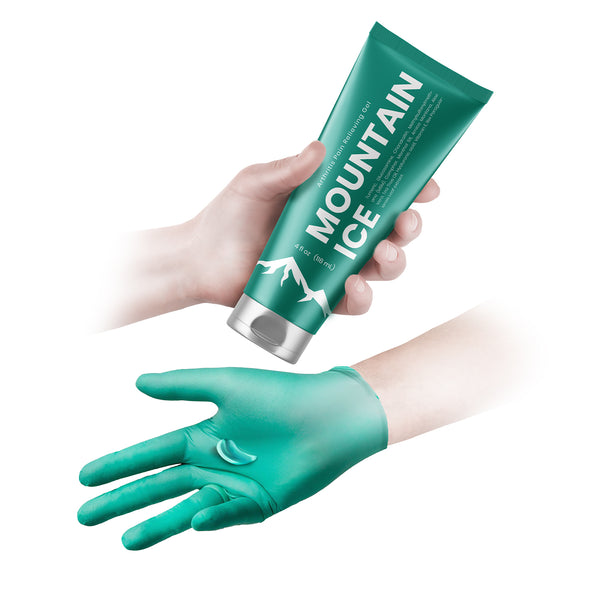 How to Apply Mountain ice Arthritis Pain Relief Gel- Step 2 Squeeze gel on glove for application