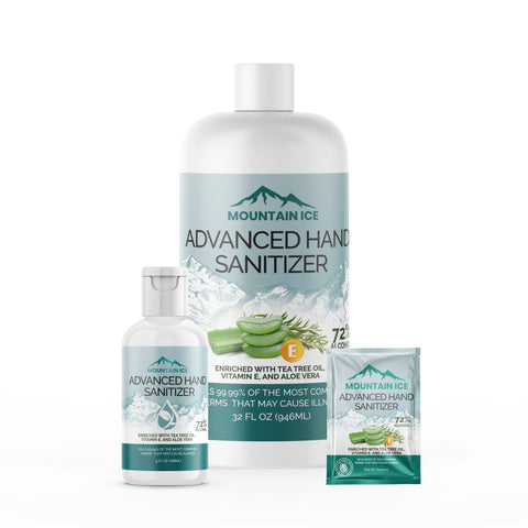 Mountain Ice Advanced Hand Sanitizer Product Line
