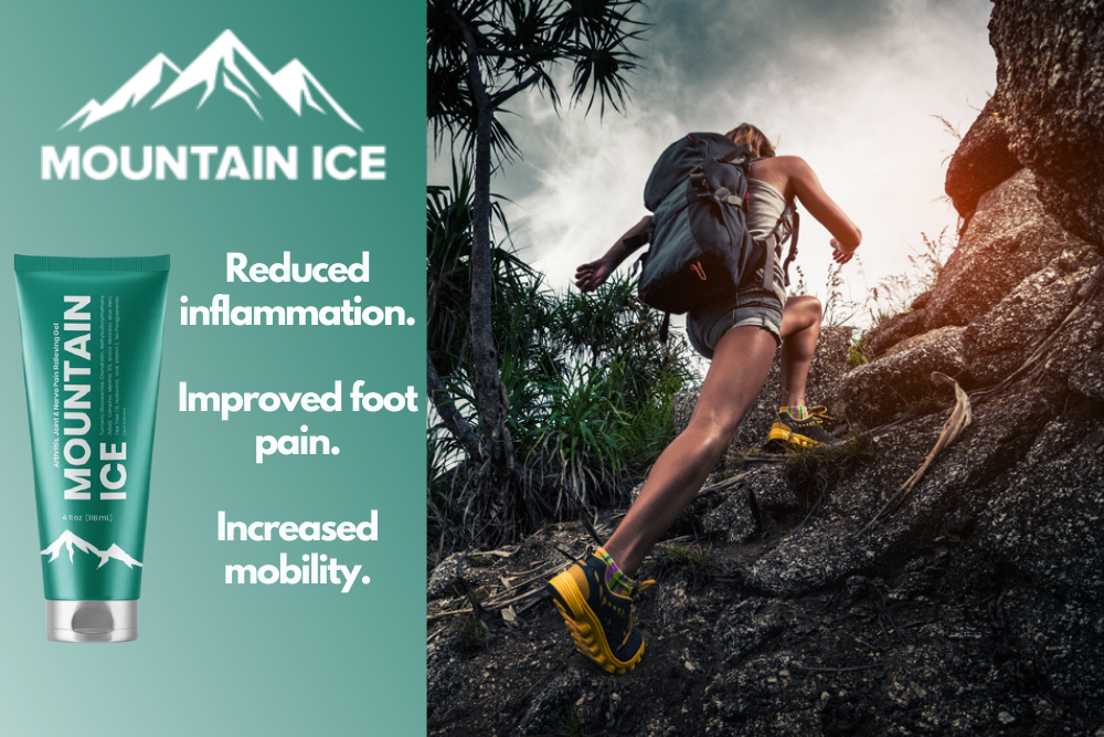 Mountain Ice Pain Relief Gel for Reduced Foot Pain from Plantar Fasciitis