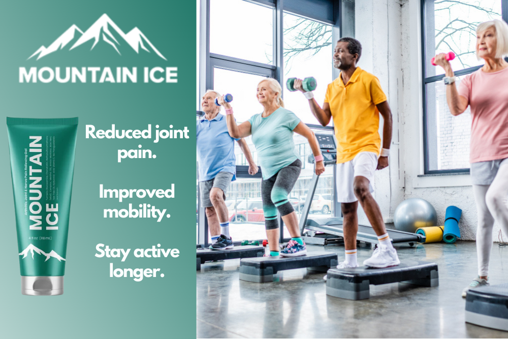 Seniors Stay Active Longer with Mountain Ice Pain Relief Gel