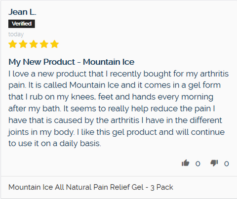 Mountain Ice Testimonial