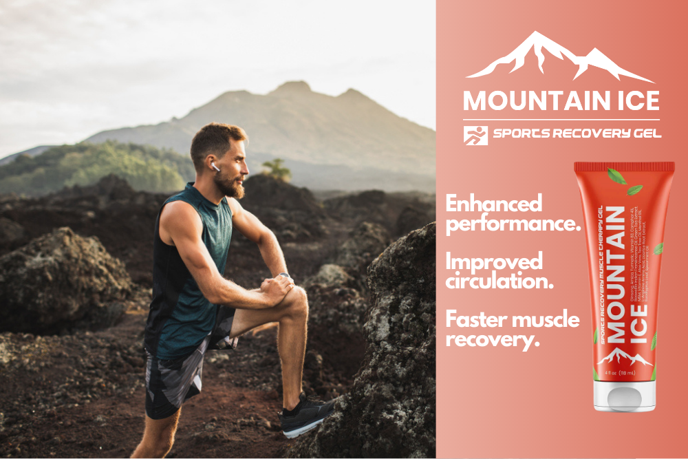 Mountain Ice Sports Recovery Gel for Knee Pain and Knee Injuries