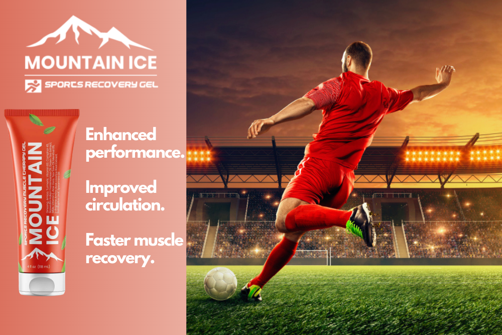 Faster Muscle Recovery from Soccer Injuries with Mountain Ice Sports Recovery Gel