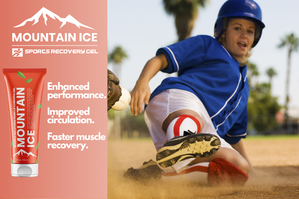 Mountain Ice Sports Recovery Gel for Common Softball Injuries