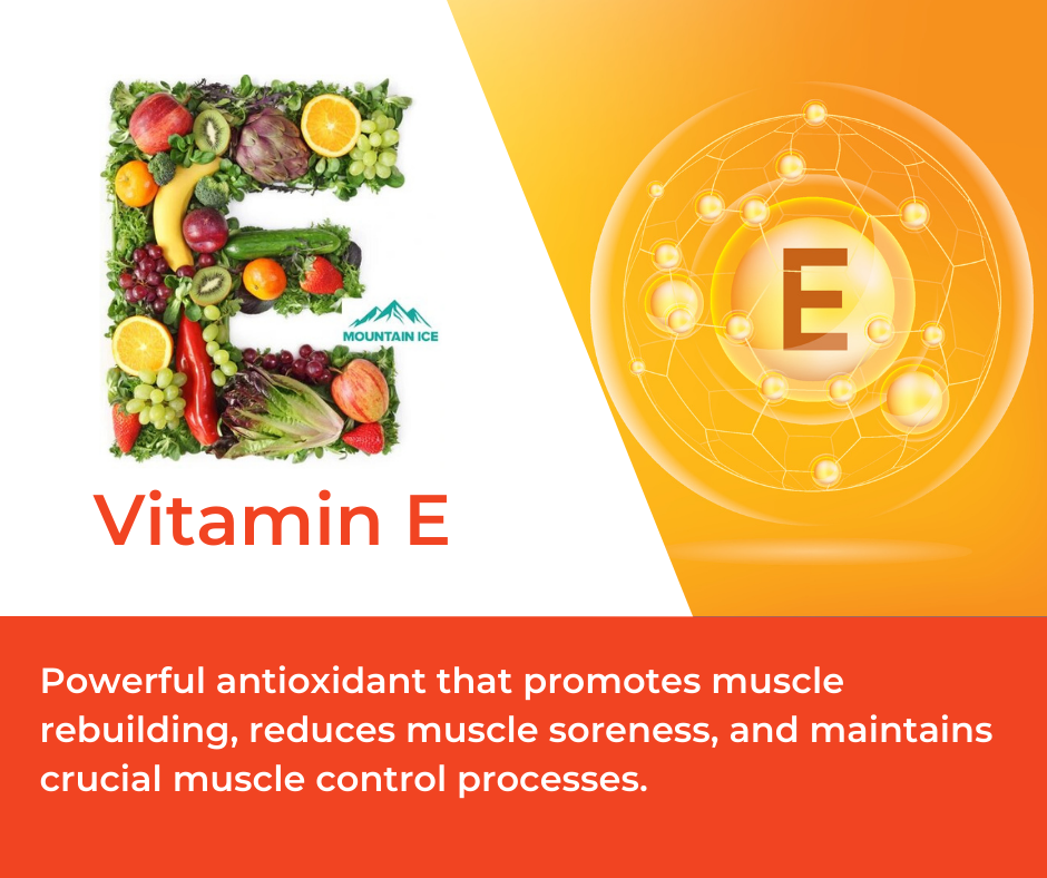 Vitamin E in Mountain Ice Muscle Therapy Gel