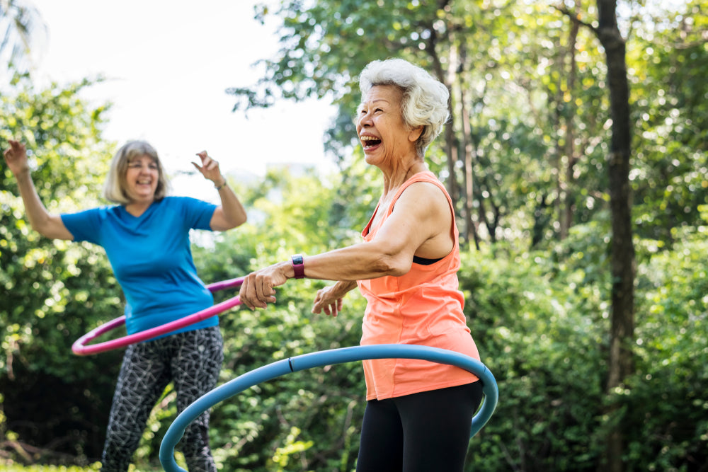Outdoor Sports Social Distance Hula Hooping