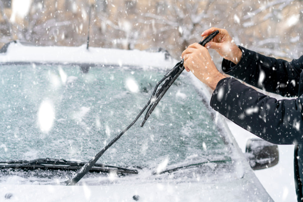 Car Winter Windshield Wiper Check