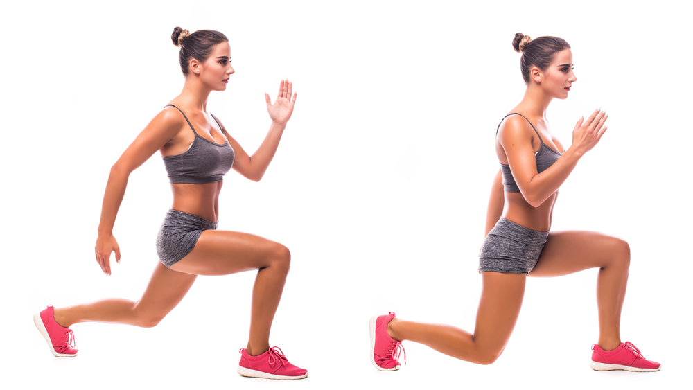Reverse Lunge Exercises to Improve Knee Strength and Reduce Knee Pain with Mountain Ice Sports Recovery Gel