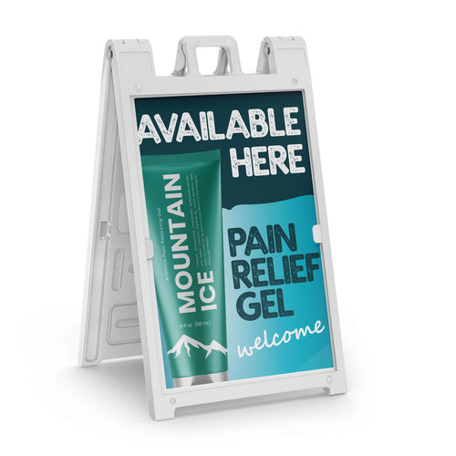 Mountain ice Pain Gel A-Frame Sign