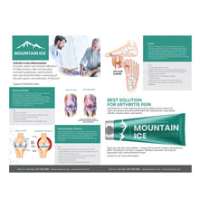Load image into Gallery viewer, Mountain Ice Arthritis, Rheumatoid Arthritis and Gout Information and Helpful Tips Card 6 x 9 - dealer, Mountain Ice