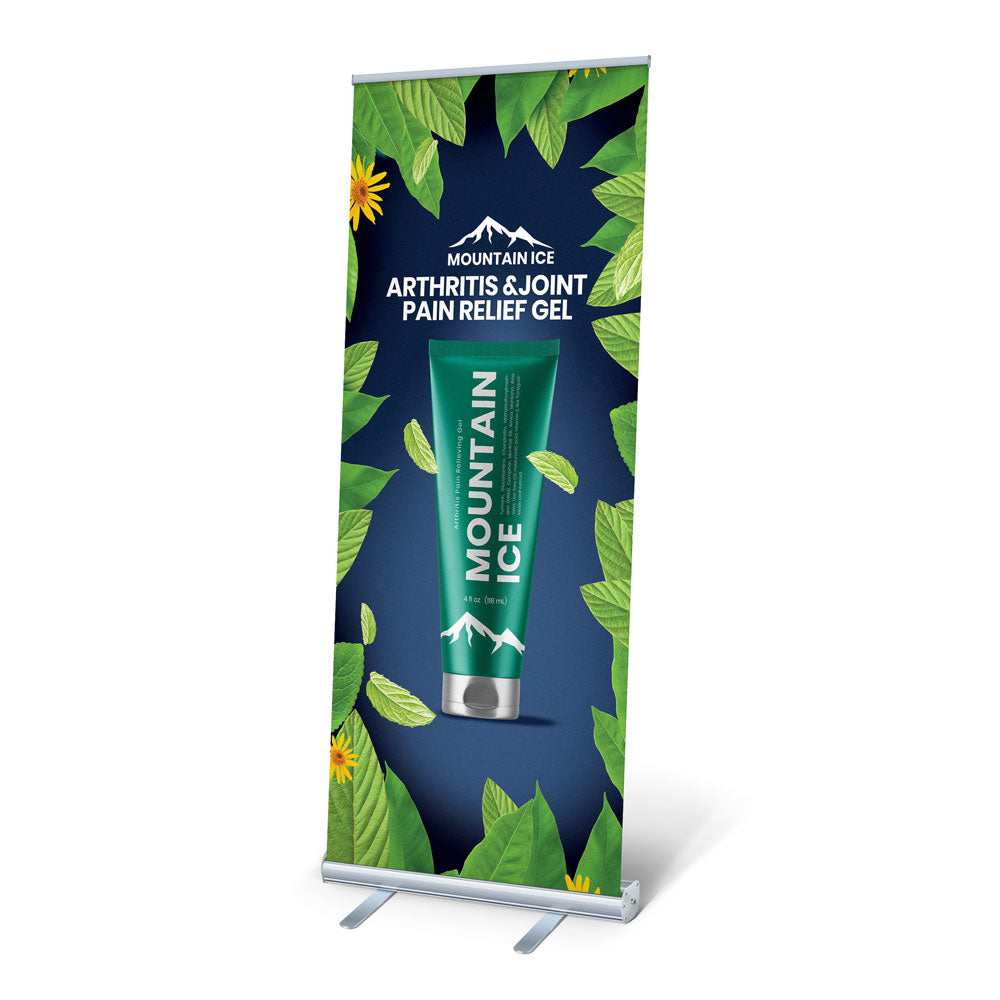 Showroom Display E11 Retractable Mountain Ice Sign 78 x 33