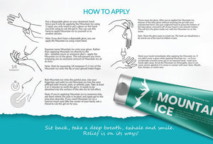 Mountain Ice Instruction / How to Apply Card