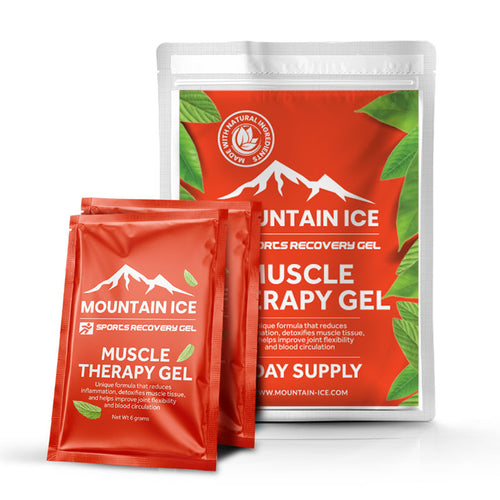 Sample Pack of Mountain Ice Sports Recovery Muscle Therapy Pain Relief Gel - Aloe Vera, Boswellia, Camphor, fibromyalgia, Ginseng, Hyaluronic Acid, lex Paraguariensis Leaf, Licorice Root Extr