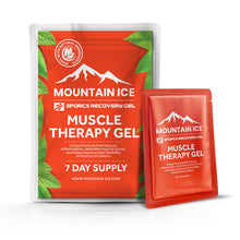 Load image into Gallery viewer, Mountain Ice Muscle Therapy Gel - Sample Pack - Anti-inflammatory, Arnica Montana Flower Extract, Camphor, improve blood flow, improve circulation, Made in USA, Mountain Ice, Pain Relieving G
