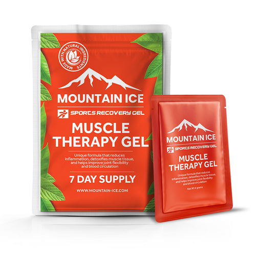Mountain Ice Muscle Therapy Gel - 7 Day Pack - Anti-inflammatory, Arnica Montana Flower Extract, Camphor, improve blood flow, improve circulation, Made in USA, Mountain Ice, Pain Relieving Ge