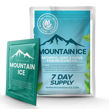Load image into Gallery viewer, Mountain Ice All Natural Pain Relief Gel - Sample Pack - Anti-inflammatory, Arthritis Pain Medication, Arthritis Pain Relief, Best treatment for rheumatoid arthritis, fibromyalgia, Gout, Join