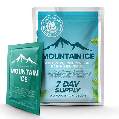 Mountain Ice All Natural Pain Relief Gel - 7 Day Supply - Anti-inflammatory, Arthritis Pain Medication, Arthritis Pain Relief, Best treatment for rheumatoid arthritis, fibromyalgia, Gout, Joi