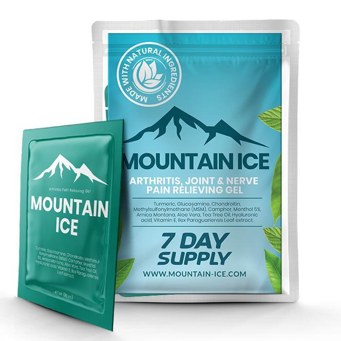 Mountain Ice All Natural Pain Relief Gel - Sample Pack - Anti-inflammatory, Arthritis Pain Medication, Arthritis Pain Relief, Best treatment for rheumatoid arthritis, fibromyalgia, Gout, Join
