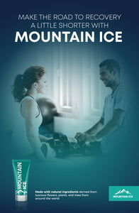 "Mountain Ice Rehab Poster 11"" x 17"" Make the Road to Recovery a Little Shorter with Mountain Ice - dealer, Mountain Ice"