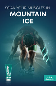 "Mountain Ice Runner Poster 11"" x 17"" Soak You Muscles in Mountain ice"