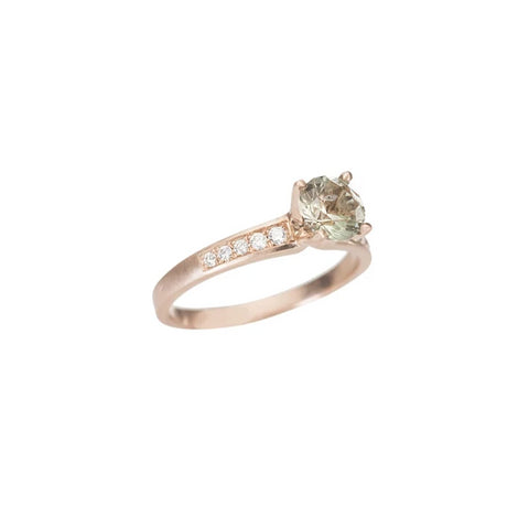 Sunstone Engagement Ring