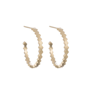 Spiky Crown Hoops