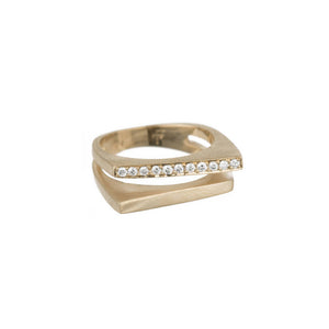 Pavé Split Angle Ring