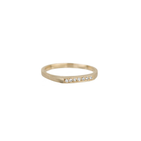 Pavé Thin Bar Ring