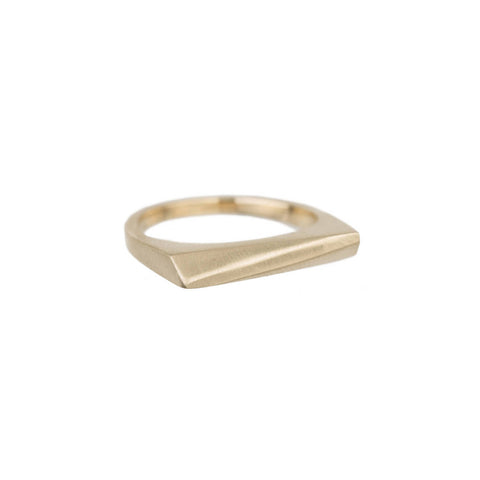 Thin Angled Bar Ring
