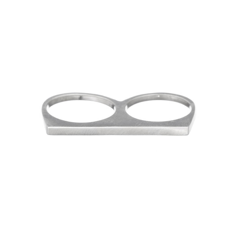 Thin Bar Double Ring