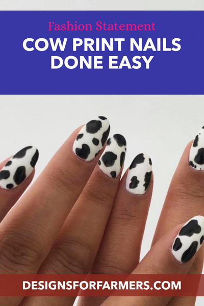 Cow Print Nails Done Easy