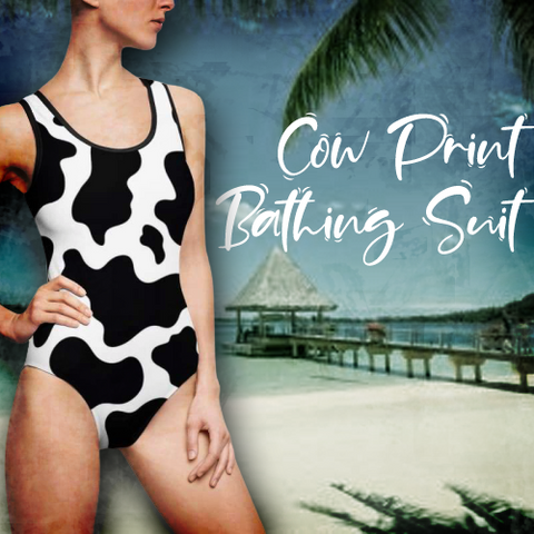 Holstein cow print bathing suit