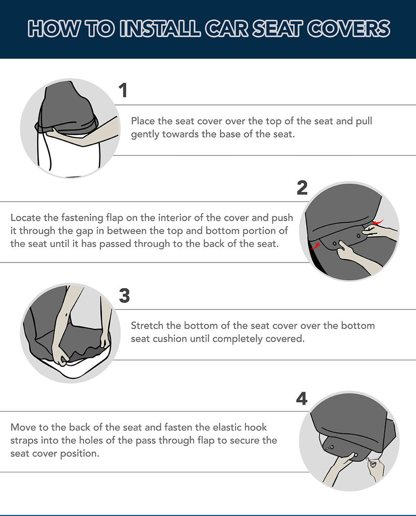 Instructions for installing car seat cover