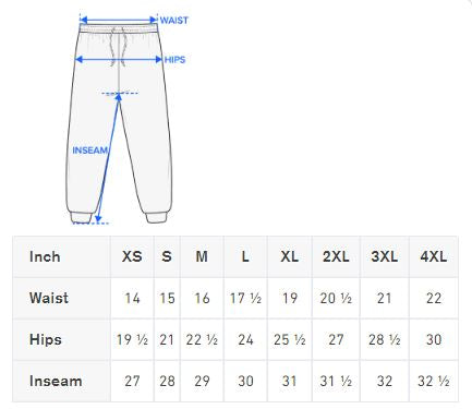 Size Reference Chart and  Sizing Guide