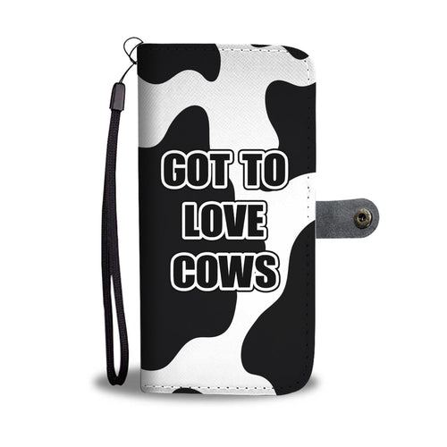 Cute Cow Print Phone Wallet Case