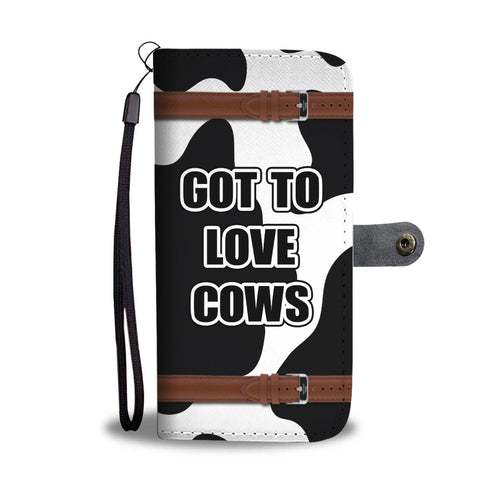 Cow Phone Wallet (With Printed Straps)