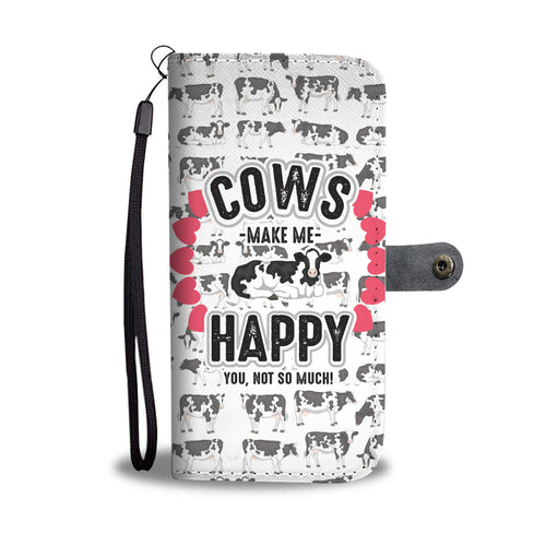 Cows Make Me Happy Phone Wallet Case